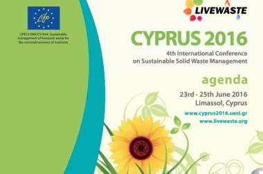 International waste conference – Cyprus – Junho, 2016