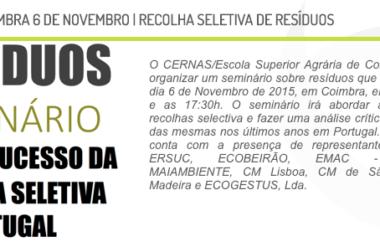 Selective Waste Collection – Seminar – November 2015, Coimbra