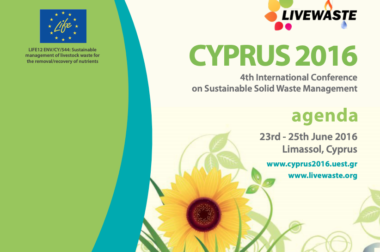 International waste conference – Cyprus – Junho, 2016